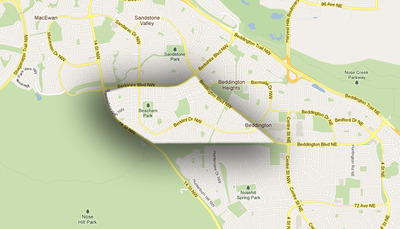 Beddington Heights Map