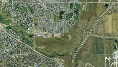 Harvest Hills Neighbourhood Satelite View