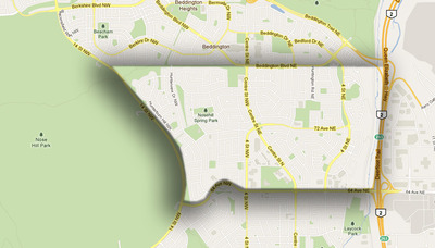 Huntington Hills map