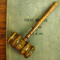 Court Gavel by Wikimedia Commons