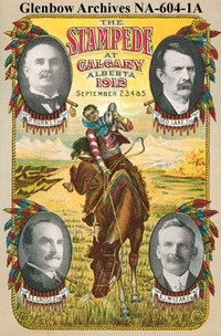 Program for 1912 Calgary Stampede by Wikimedia Commons